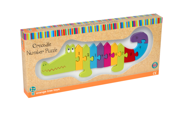Number Puzzle - Crocodile - Packaging