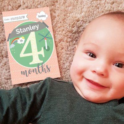 Personalised Milestone Baby Cards