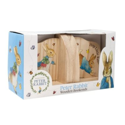 Peter Rabbit Wood Bookends