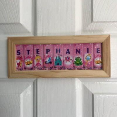 Wooden Framed Name – Princesses