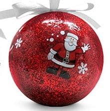 red personalised flashing LED Christmas Bauble