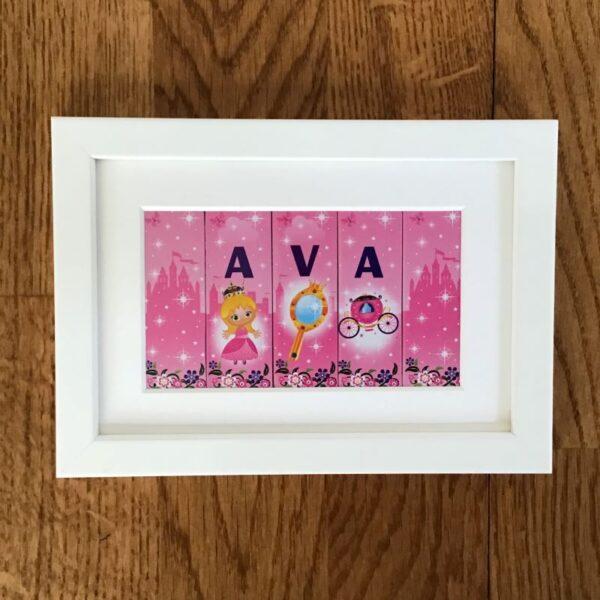 white wood frame princesses 5 2a