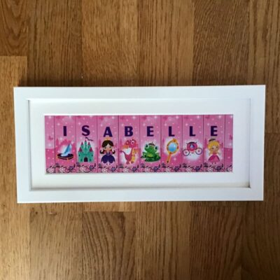 Framed Name with Princesses